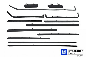 C4 Corvette 1985-1990 Complete Body Moldings Kit - 13Pc