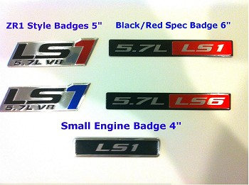 Corvette C5 97-04 Aluminum Badges/Engine Plates Emblems