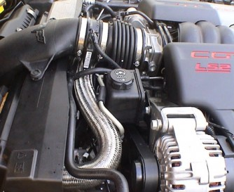 C6 Corvette 2005-2007 LS2 Top Radiator Hose - Stainless Steel | Corvette Mods
