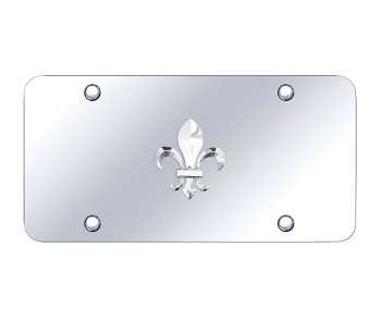 Fleur-De-Lis Logo on Chrome Plate - Logo Finish Options