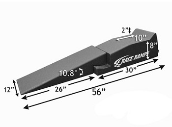"C3 C4 C5 C6 C7 Corvette 1968-2014+ 56"" Race Ramp Two Piece Design - Set Of 2"