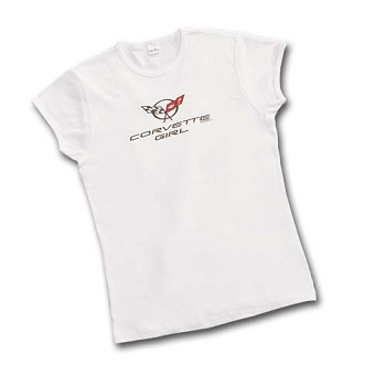 C5 Corvette 1997-2004 Corvette Girl White Ladies Fashion Tee