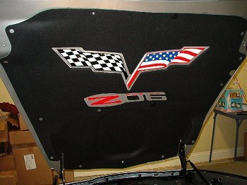 Corvette C6 05-13 American Flag Hood Pad Decal