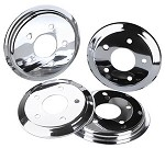 C5 C6 Corvette 1997-2013 Hub Rotor Covers - Chrome / Red / Black