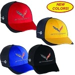 2014+ C7 Corvette Stingray Carbon Fiber Hat - Red, Yellow, Black, Blue