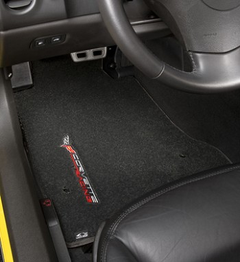 C5 Corvette 1997-2004 Lloyds Ultimat Floor Mats - Sideways Corvette Racing Script